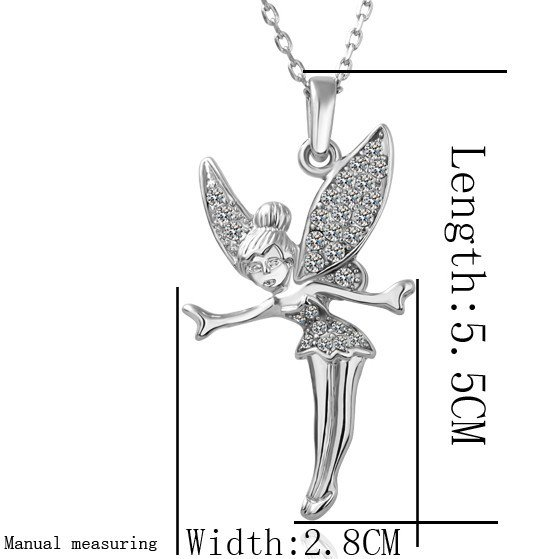 18KGP N010 N011 Fairy 18K Gold Plated Necklace Nickel Free Pendant
