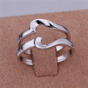 ER01 Platinum Plated Set,gemstone silver Rings,Rings Size Female7-16,Male13-24