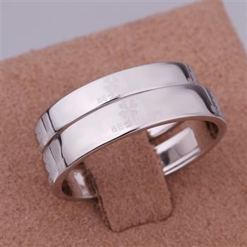 ER03 Platinum Plated Set,gemstone silver Rings,Rings Size Female7-16,Male13-24
