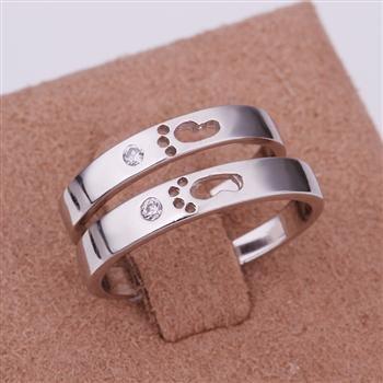 ER05 Platinum Plated Set,gemstone silver Rings,Rings Size Female7-16,Male13-24
