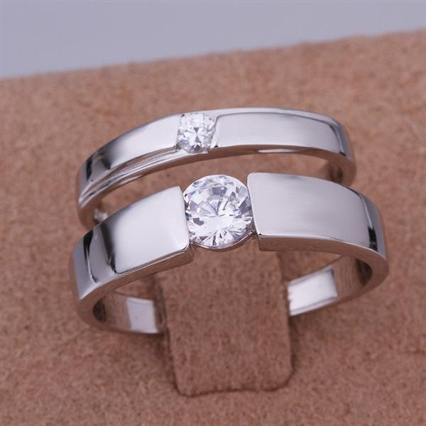 ER011 Platinum Plated Set,gemstone silver Rings,Rings Size Female7-16,Male13-24