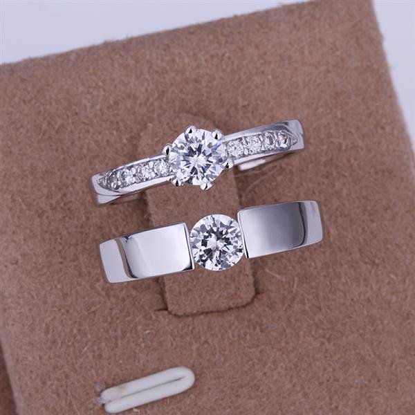 ER012 Platinum Plated Set,gemstone silver Rings,Rings Size Female7-16,Male13-24