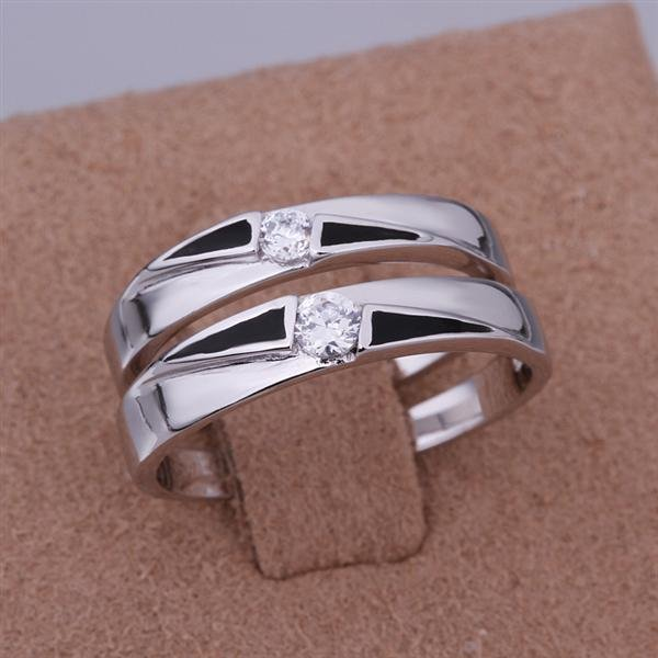 ER022 Platinum Plated Set,gemstone silver Rings,Rings Size Female7-16,Male13-24