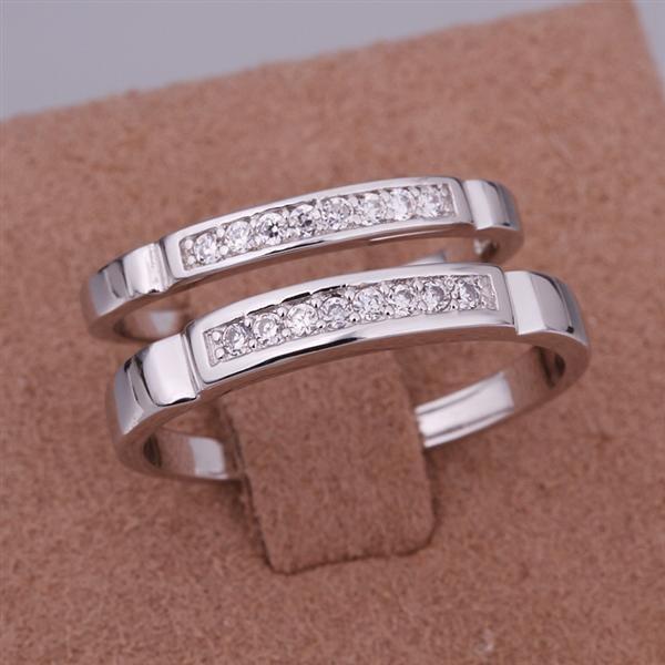 ER023 Platinum Plated Set,gemstone silver Rings,Rings Size Female7-16,Male13-24
