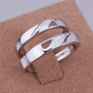 ER028 Platinum Plated Set,gemstone silver Rings,Rings Size Female7-16,Male13-24