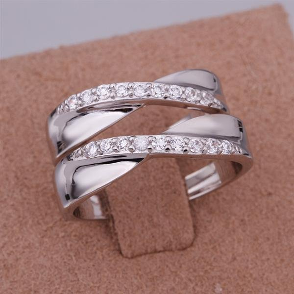 ER035 Platinum Plated Set,gemstone silver Rings,Rings Size Female7-16,Male13-24