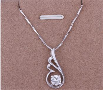 PD01 Platinum Plated Silver Necklace,necklace length approximately18~20 inches