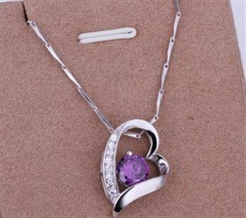 PD013 Platinum Plated Silver Necklace,necklace length approximately18~20 inches