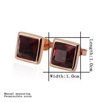 18KGP E244 Red 18K Gold Plated Earrings Nickel Free K Golden Jewelry Plating Platinum