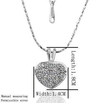 18KGP N004 Heart ,18K gold plated,plating platinum necklace Pendant SWA elements