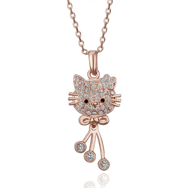 18KGP N128Hello Kitty Necklaces 18K K Gold Plated Nickel Free Necklace