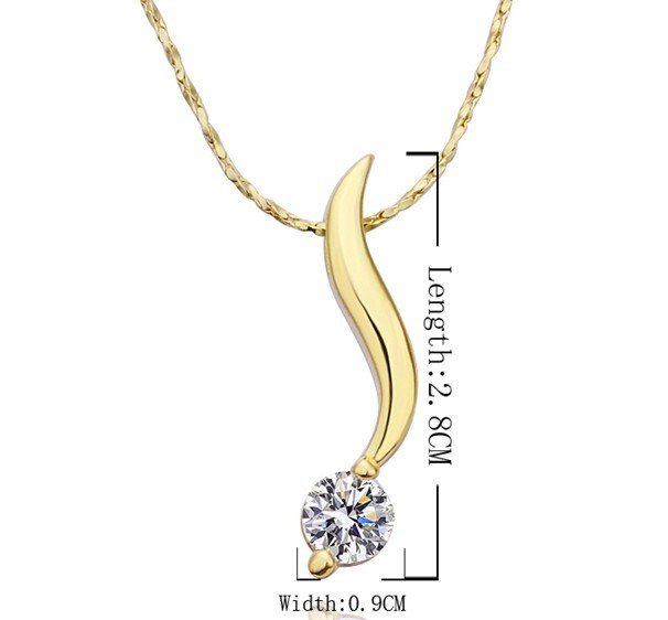 18KGP N203 18K Gold Plated Necklace Health Jewelry Nickel Free K Golden Plating Pendant