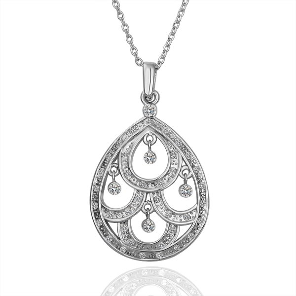 18KGP N120  Water Drop 18K K Gold Plated Fashion Jewellery Nickel Free Necklace
