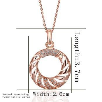 18KGP N393 Necklace 18K K Gold Plated Fashion Jewelry Nickel Free Pendant