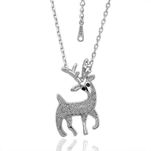 18KGP N041  Deer Necklace 18K K Gold Plated Fashion Jewellery Nickel Free Necklace