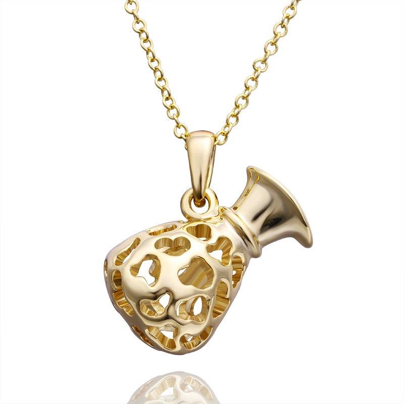 18KGP N495 Water Bottle 18K Gold Plated Fashion Jewelry Nickel Free Pendant