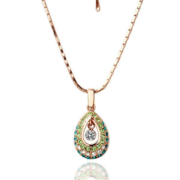 18KGP N022 Multicolour Peacock Eye Fashion jewelry,18K gold plated,plating platinum necklace