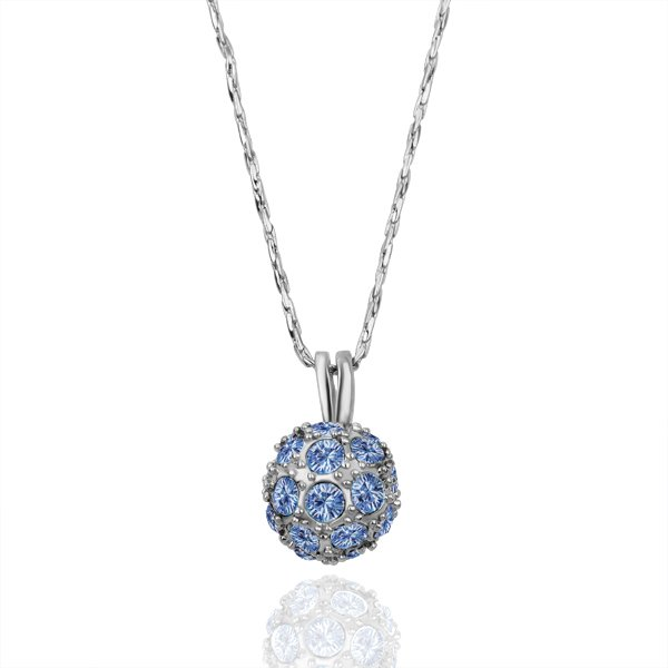 18KGP N130 Ball Necklaces 18K Platinum Plated Fashion Jewellery Nickel Free Necklace