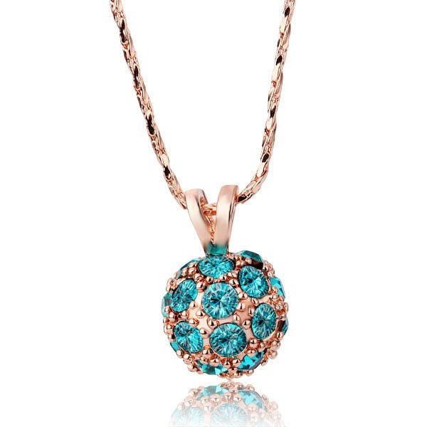 18KGP N214 Ball Necklaces 18K K Gold Plated Fashion Jewellery Nickel Free Necklace