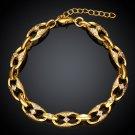 KZCB005 Freeshipping 18K gold plated bracelet, Fashion jewelry, Austrian Crystal