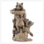 #37202 Raccoon Pedestal Birdfeeder