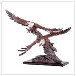 #33758 Eagles Soar Over Rocks