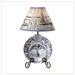 #33770 Wolf In A Snowy Forest Lamp