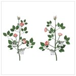 #33596 Victorian Rose Wall Sconces