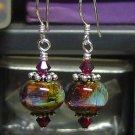 MEDITATION Lampwork Glass Beads Earrings