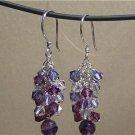 SWAROVSKI CRYSTALS & FLUORITE Gemstones Earrings
