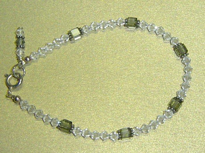 SWAROVSKI CLEAR & BLACK CRYSTALS Bracelet