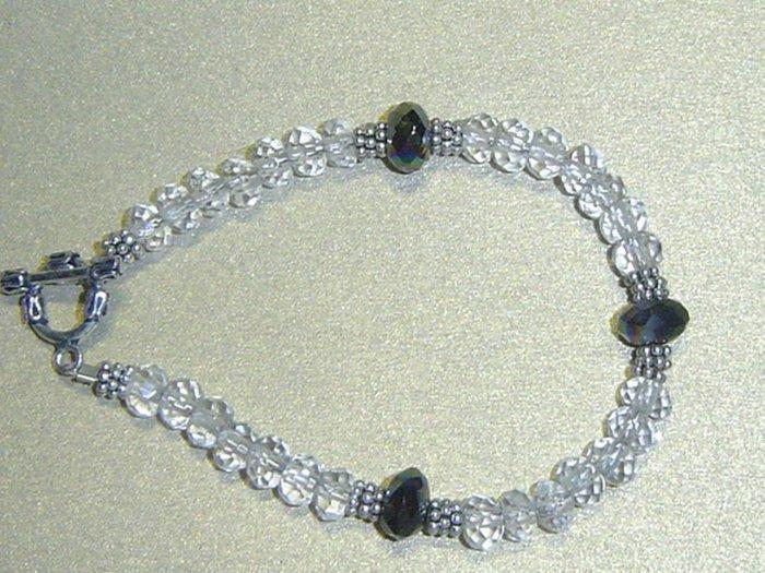 ROCK QUARTZ & RAINBOW QUARTZ Gemstones Bracelet