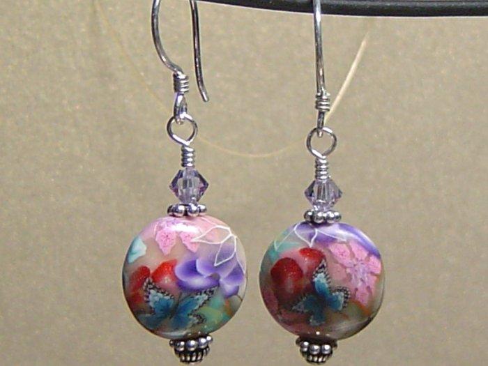 BUTTERFLY II Polymer Clay Earrings - KM