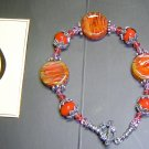 HOT DESERT Lampwork Lozenges Glass Beads Bracelet - KM