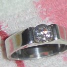 Sterling Silver Ring with 1.50ctw White Cubic Zirconia Stones