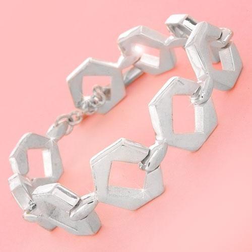 Sterling Silver Bracelet with Genuine Topaz Gemstones