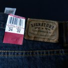 Mens Levi Signature  Relaxed Straight Leg Jeans 34x32 NWT