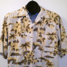Mens Silk Icon Button Front Camp Shirt Size Medium