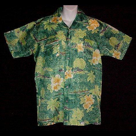 HAWAIIAN SHIRT 60's to 70's Vintage WAIKIKI HOLIDAY Floral ALOHA Print VLV Men's Sz S to M!