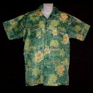 HAWAIIAN SHIRT 60's to 70's Vintage WAIKIKI HOLIDAY Floral ALOHA Print VLV Men's Sz S to M!