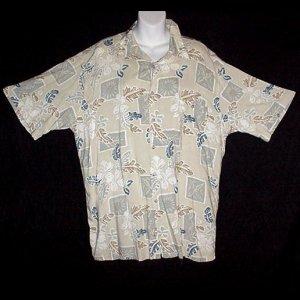 HAWAIIAN SHIRT Classic Summer PIERRE CARDIN Vintage 80's Tropical Print ALOHA Men's Size L!