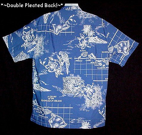 HAWAIIAN SHIRT Vintage 60's HOWEN HAWAII Floral PARROTS ALOHA CHART of the ISLES Men's Size L!