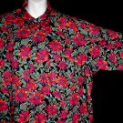 HAWAIIAN SHIRT USA Quality PAUL FREDRICK Nordstrom's Bold BRILLIANT Floral Print ALOHA Men's Sz XL!