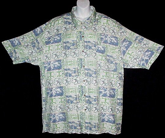 HAWAIIAN SHIRT Classic PINEAPPLES FLORAL TAPA Tropical Print ALOHA Men's Size XXL/2X!