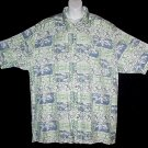 HAWAIIAN SHIRT Classic PINEAPPLES FLORAL TAPA Tropical Print ALOHA Men's Size XXL/2X!