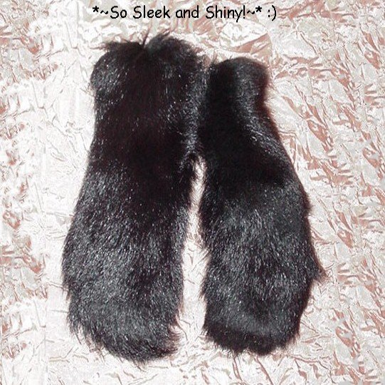 MAGNIFICENT Pair of *~BLACK FOX FUR~* Tails THICK Gorgeous LUXURIOUSLY LONG and FLUFFY!