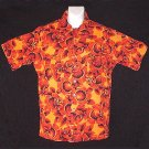 HAWAIIAN SHIRT Vintage Classic -= EARLY 70's SURFER ALOHA =- Floral Print COTTON Men's Size S!