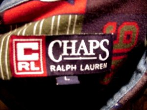 CHAPS 1996 Long Sleeve Shirt RALPH LAUREN Deep Rich Colors 96 CRL 100% Cotton Men's ~ L!