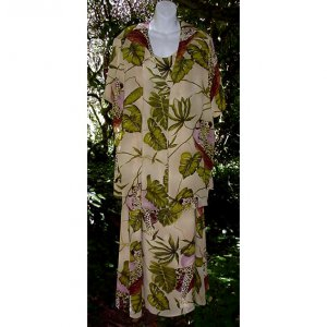 EXOTIC LEOPARDS Vintage 2-Pc Dress LONG WILD JUNGLE Print Gown w/Cover-up Top CHIC Fits Sz 18/20-2X!