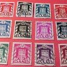 Saar Stamp Set Scott # O27-O38 01 Precanceled